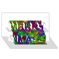 Liquid Plastic Merry Xmas 3D Greeting Card (8x4)