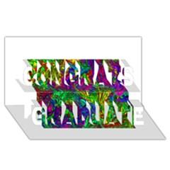 Liquid Plastic Congrats Graduate 3d Greeting Card (8x4)
