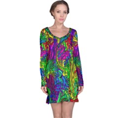 Liquid Plastic Long Sleeve Nightdresses