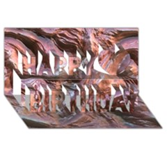 Wet Metal Structure Happy Birthday 3D Greeting Card (8x4)