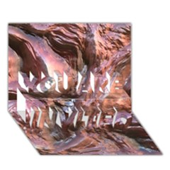 Wet Metal Structure YOU ARE INVITED 3D Greeting Card (7x5)