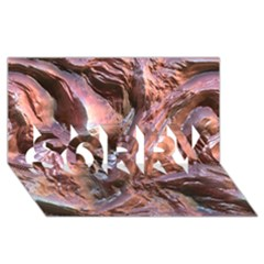 Wet Metal Structure Sorry 3d Greeting Card (8x4)