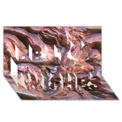 Wet Metal Structure Best Wish 3D Greeting Card (8x4)