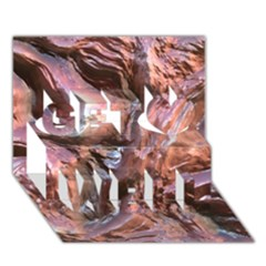 Wet Metal Structure Get Well 3d Greeting Card (7x5)