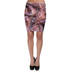 Wet Metal Structure Bodycon Skirts