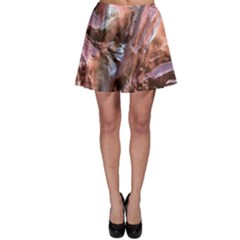 Wet Metal Structure Skater Skirts