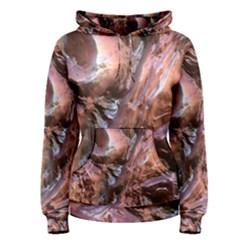 Wet Metal Structure Women s Pullover Hoodies