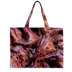 Wet Metal Structure Zipper Tiny Tote Bags