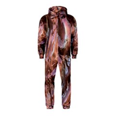Wet Metal Structure Hooded Jumpsuit (Kids)