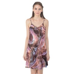 Wet Metal Structure Camis Nightgown