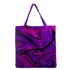 Wet Wallpaper, Pink Grocery Tote Bags