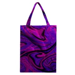 Wet Wallpaper, Pink Classic Tote Bags