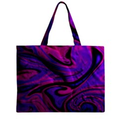 Wet Wallpaper, Pink Zipper Tiny Tote Bags