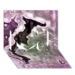 Wet Metal Pink I Love You 3d Greeting Card (7x5)