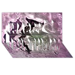 Wet Metal Pink Happy Birthday 3d Greeting Card (8x4)