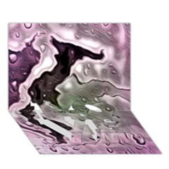 Wet Metal Pink LOVE Bottom 3D Greeting Card (7x5)