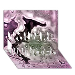 Wet Metal Pink YOU ARE INVITED 3D Greeting Card (7x5)