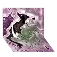 Wet Metal Pink Circle 3d Greeting Card (7x5)