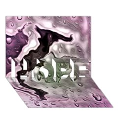 Wet Metal Pink Hope 3d Greeting Card (7x5)