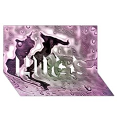 Wet Metal Pink Hugs 3d Greeting Card (8x4)