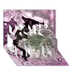 Wet Metal Pink You Did It 3D Greeting Card (7x5)