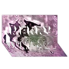 Wet Metal Pink Merry Xmas 3d Greeting Card (8x4)