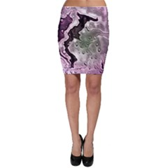 Wet Metal Pink Bodycon Skirts