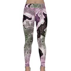 Wet Metal Pink Yoga Leggings