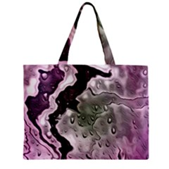 Wet Metal Pink Zipper Tiny Tote Bags