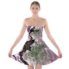 Wet Metal Pink Strapless Bra Top Dress