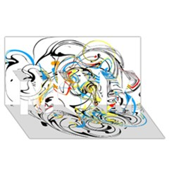 Abstract Fun Design Mom 3d Greeting Card (8x4)