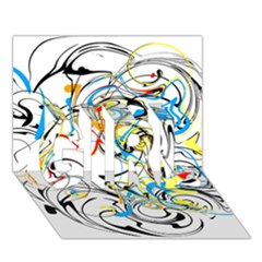 Abstract Fun Design GIRL 3D Greeting Card (7x5)
