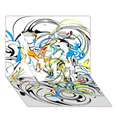 Abstract Fun Design LOVE 3D Greeting Card (7x5)