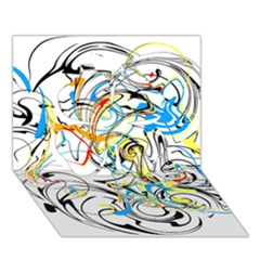 Abstract Fun Design Clover 3D Greeting Card (7x5)