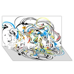 Abstract Fun Design #1 MOM 3D Greeting Cards (8x4)