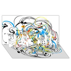 Abstract Fun Design BEST SIS 3D Greeting Card (8x4)