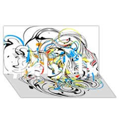 Abstract Fun Design #1 Dad 3d Greeting Card (8x4)