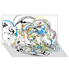 Abstract Fun Design PARTY 3D Greeting Card (8x4)