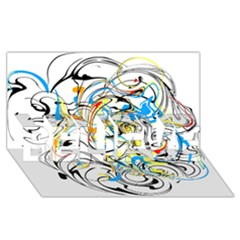 Abstract Fun Design BELIEVE 3D Greeting Card (8x4)