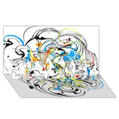 Abstract Fun Design ENGAGED 3D Greeting Card (8x4)