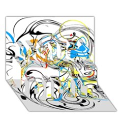 Abstract Fun Design You Did It 3d Greeting Card (7x5)