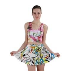 Abstract Fun Design Mini Skirts
