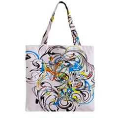 Abstract Fun Design Grocery Tote Bags
