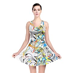 Abstract Fun Design Reversible Skater Dresses