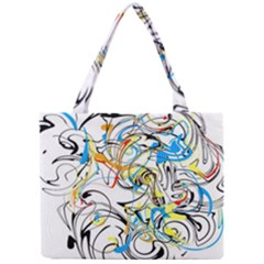 Abstract Fun Design Tiny Tote Bags