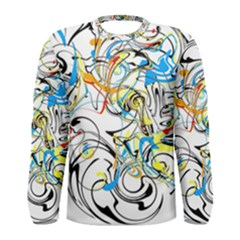 Abstract Fun Design Men s Long Sleeve T-shirts