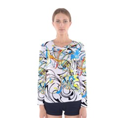 Abstract Fun Design Women s Long Sleeve T-shirts