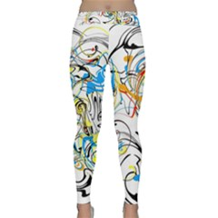Abstract Fun Design Yoga Leggings