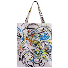 Abstract Fun Design Zipper Classic Tote Bags