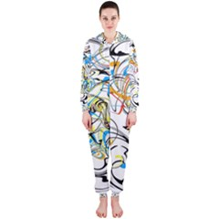 Abstract Fun Design Hooded Jumpsuit (Ladies)